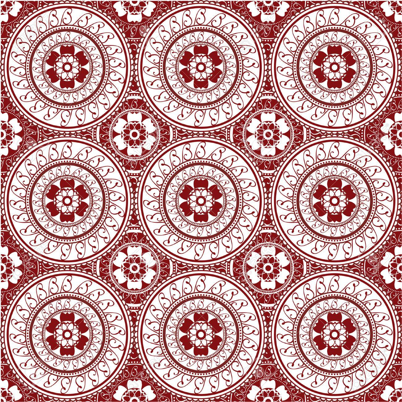 Seamless Wallpaper Inspired By Henna Design Royalty Free Cliparts
