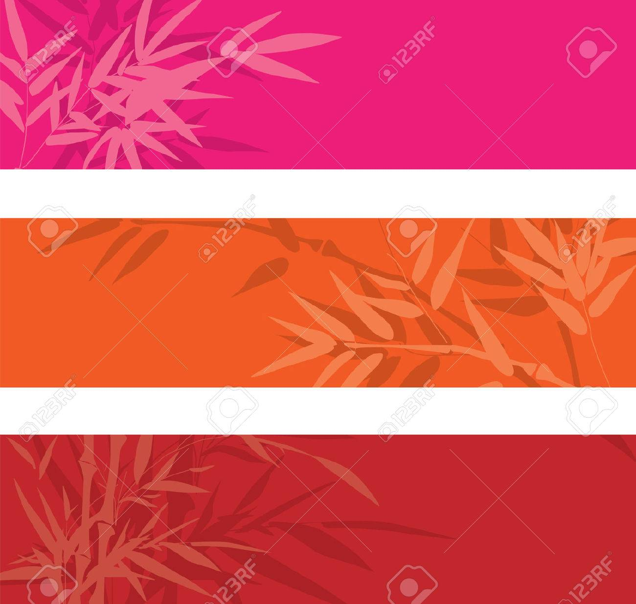Colorful bamboo banners with space for text Stock Vector - 6963479