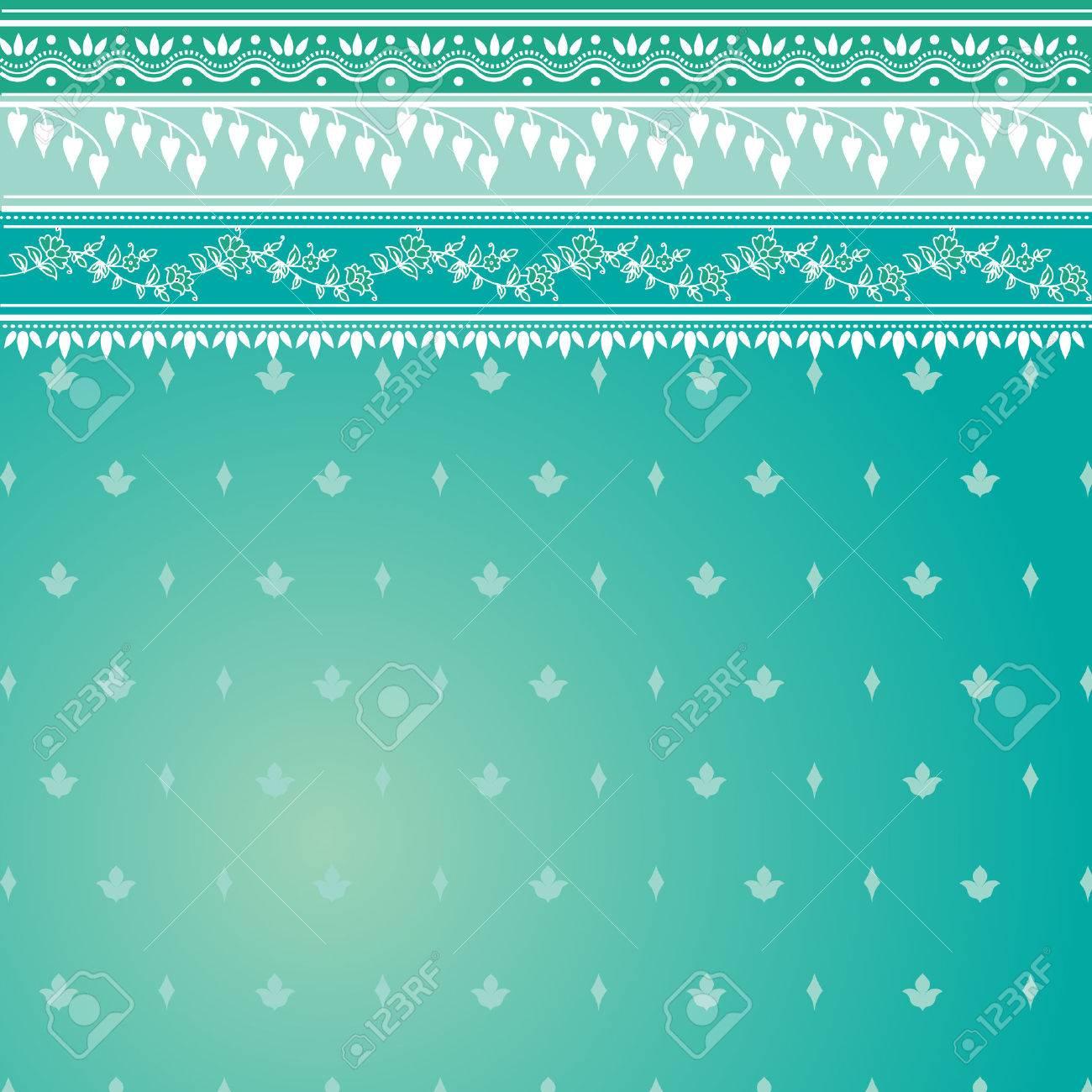 Blue indian sari background Stock Vector - 6963463