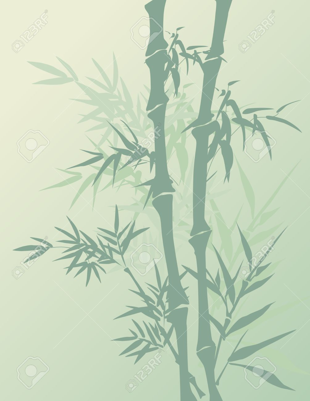 Berühmt Traditional Chinese Painting Style Bamboo Background Royalty Free #FZ_44