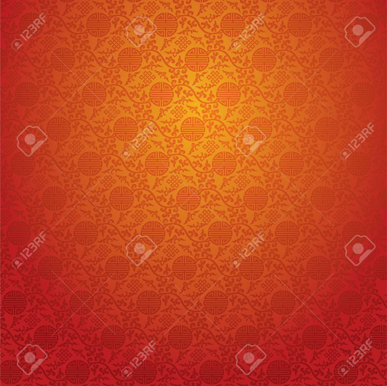 中国柄の壁紙のイラスト素材 ベクタ Image