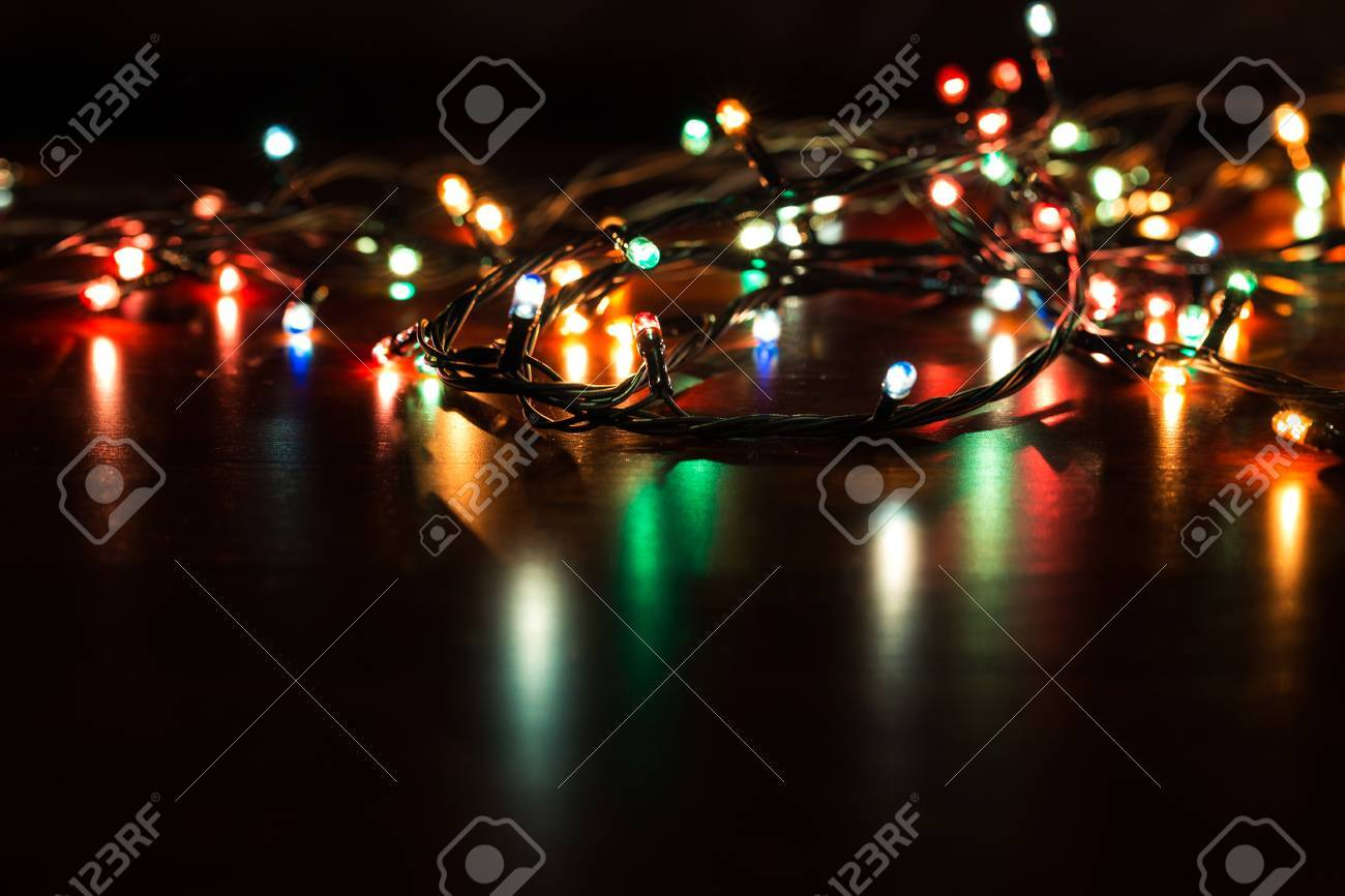 Free Christmas Lights.Christmas Background With Lights And Free Text Space Christmas