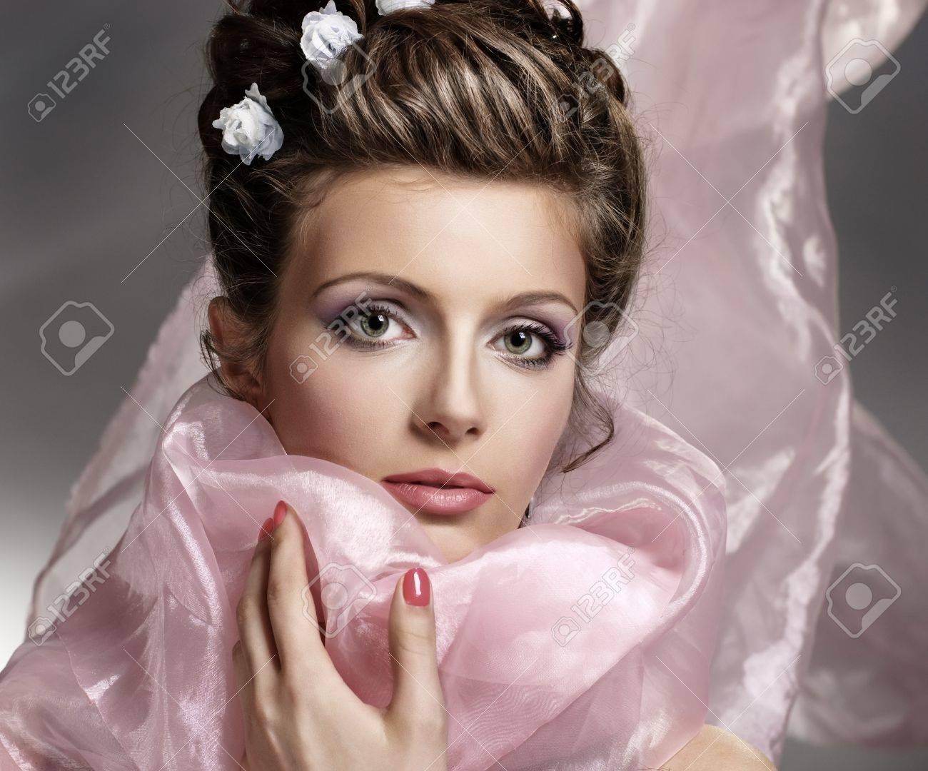 Young beautiful woman face Stock Photo - 9232466