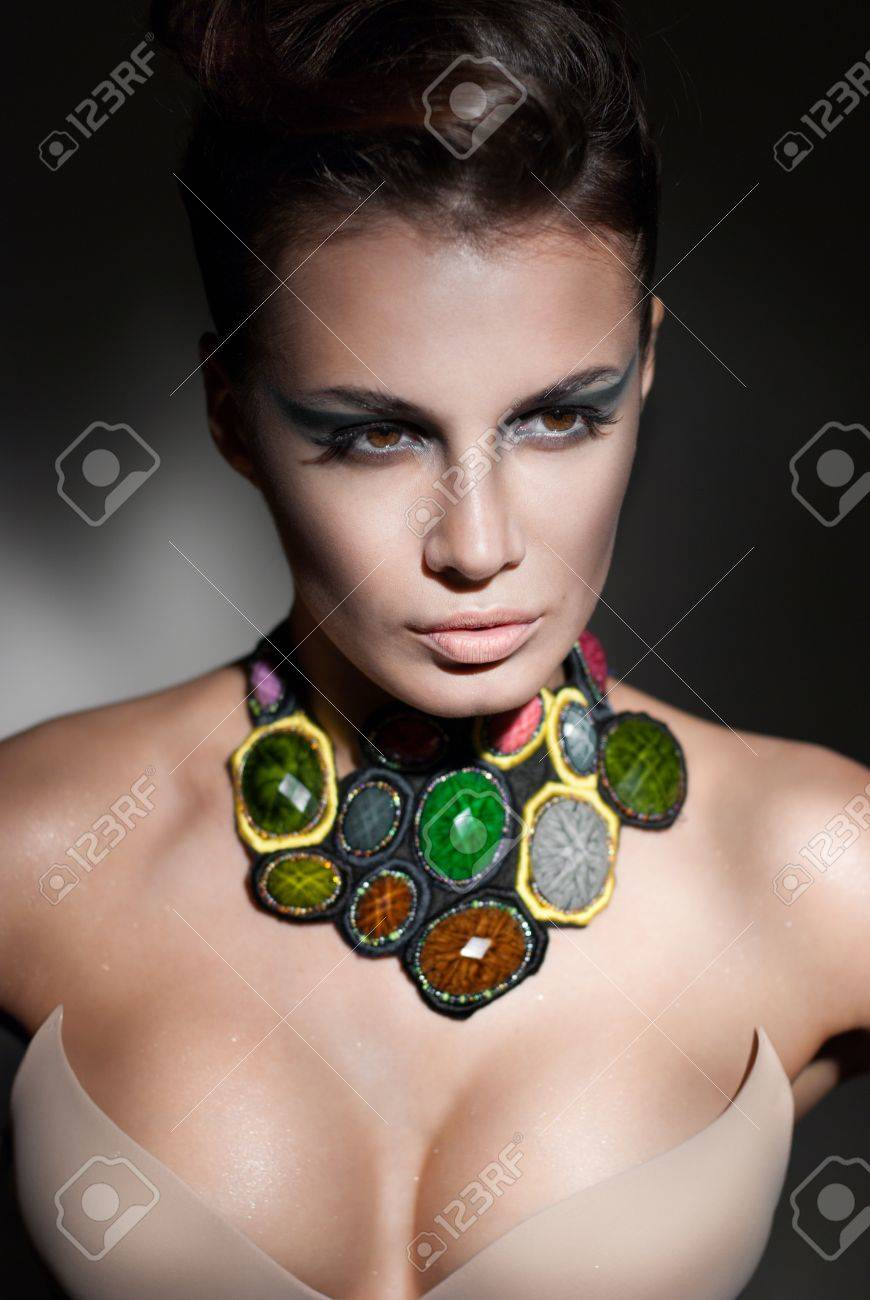 portrait of sexy caucasian young woman with beautiful eyes Stock Photo - 14778950