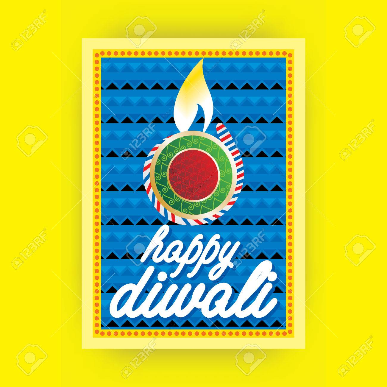 Creative Diwali Greetings Card Concept Royalty Free Cliparts