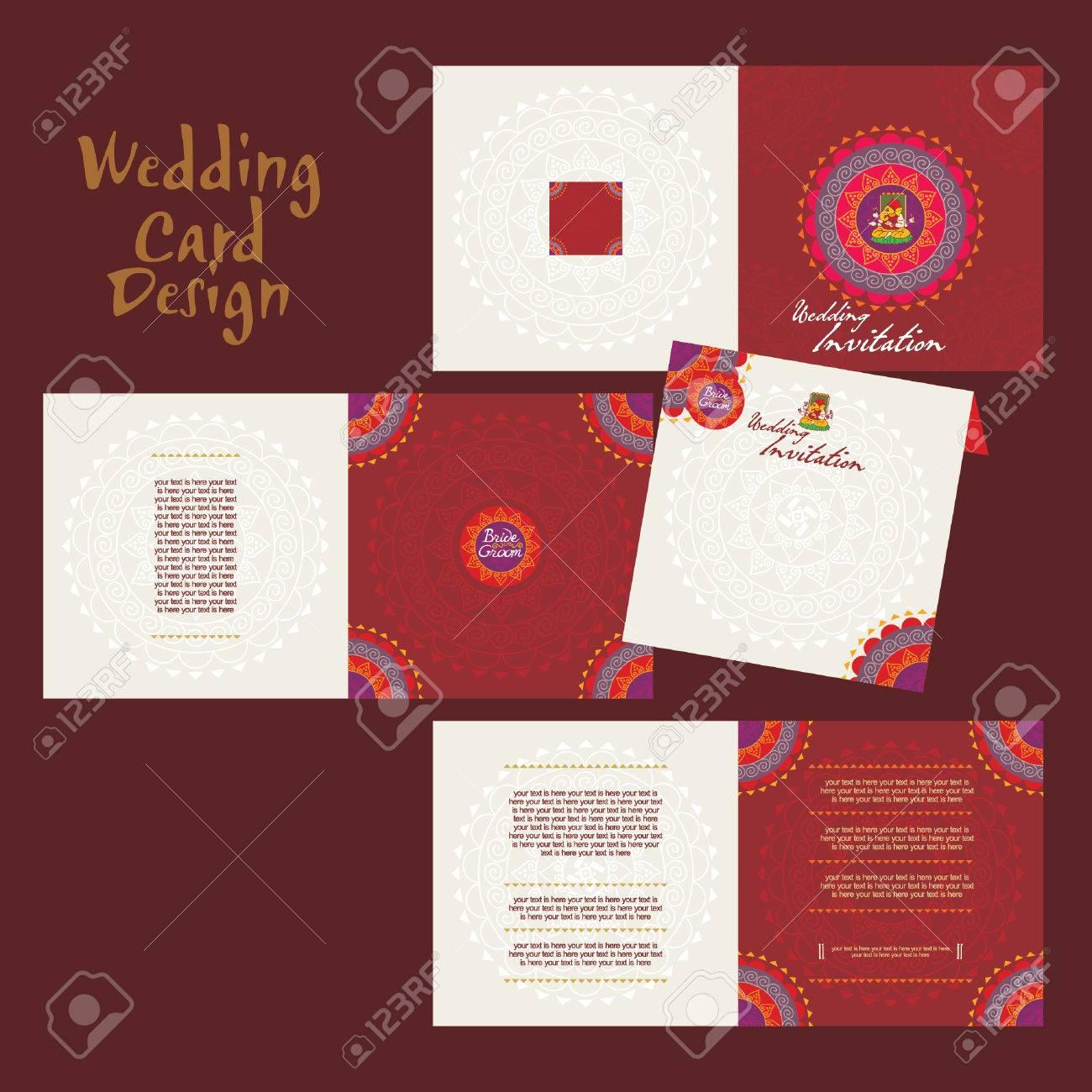 Indian Wedding Card Concept Vector Royalty Free Cliparts, Vectors ...