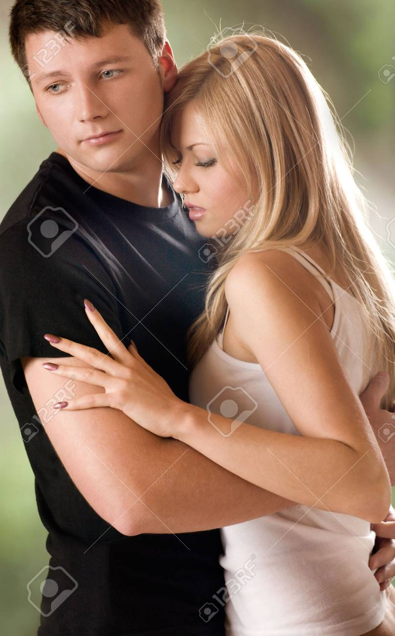 Young couple embracing, outdoors Stock Photo - 835039