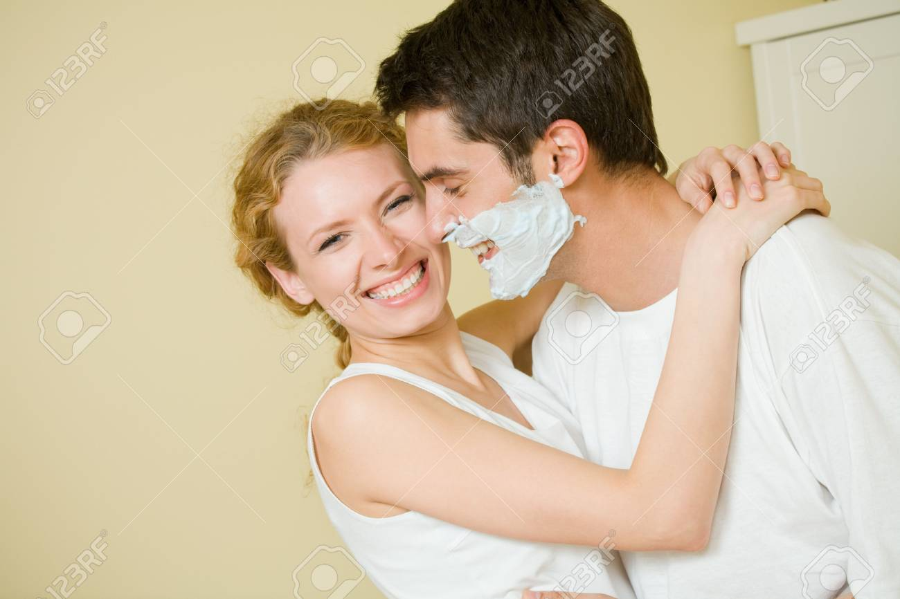 Young amorous couple having a fun together at home Stock Photo - 3535547