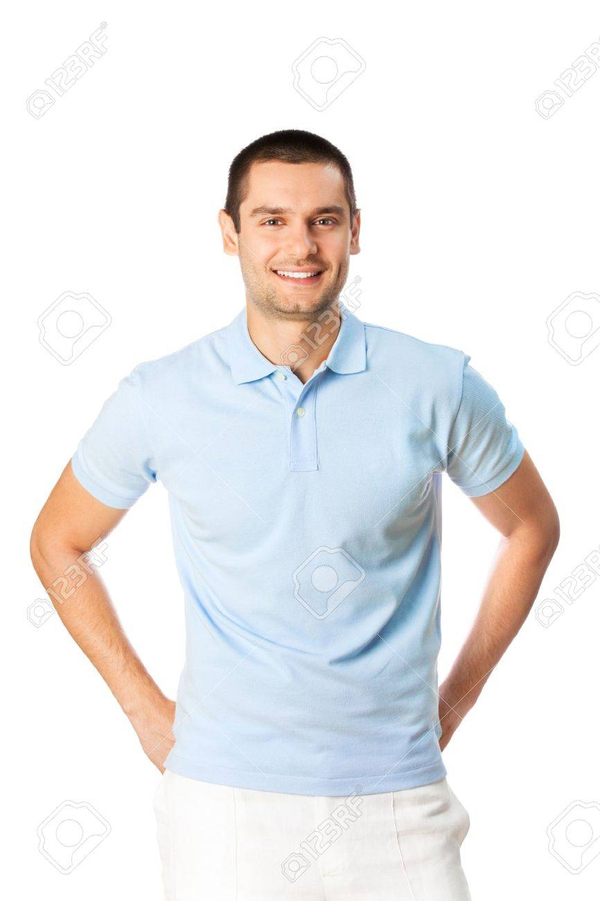 Portrait of happy smiling man, isolated on white Stock Photo - 7269007