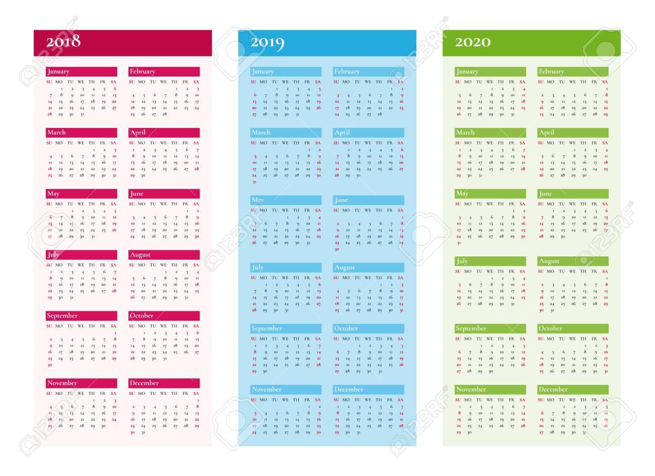 Calendar February 2019 Verticale Vertical Calendar For 2018 2019 2020 Royalty Free Cliparts