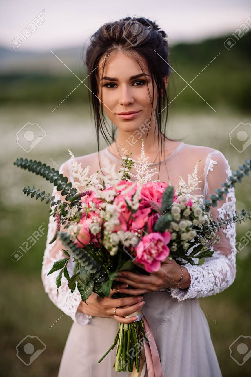 girl in daisy field