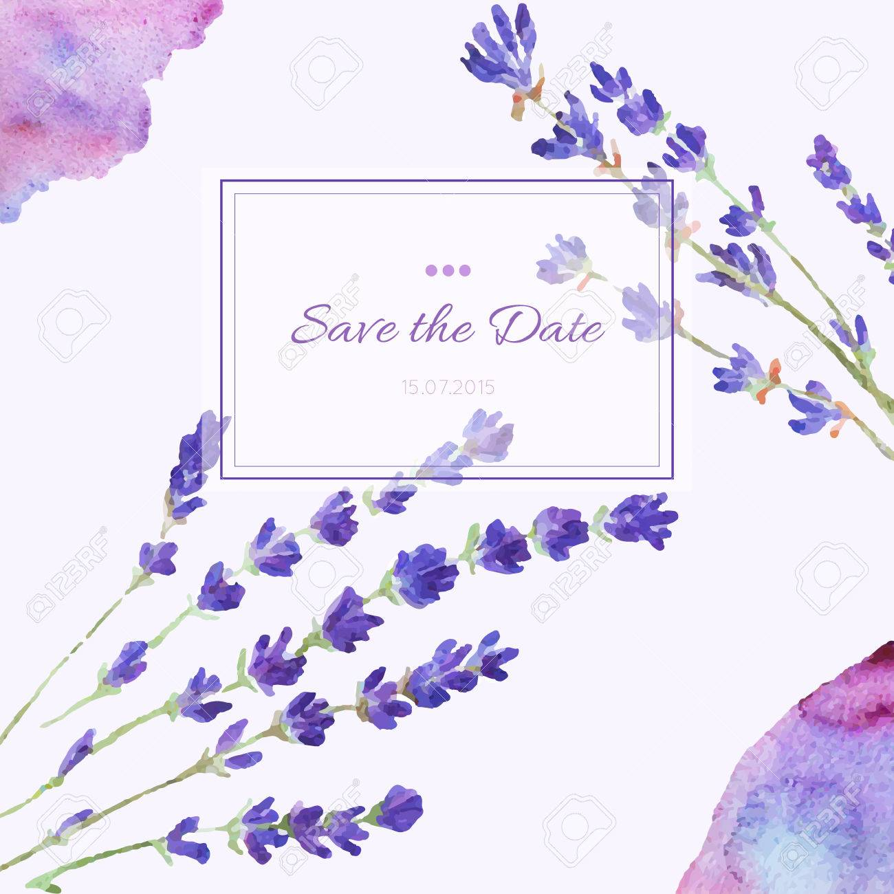 Design invitation card hand drawn watercolor template design for banco de imagens design invitation card hand drawn watercolor template design for wedding invitations flyers save the date card vector floral card stopboris Images