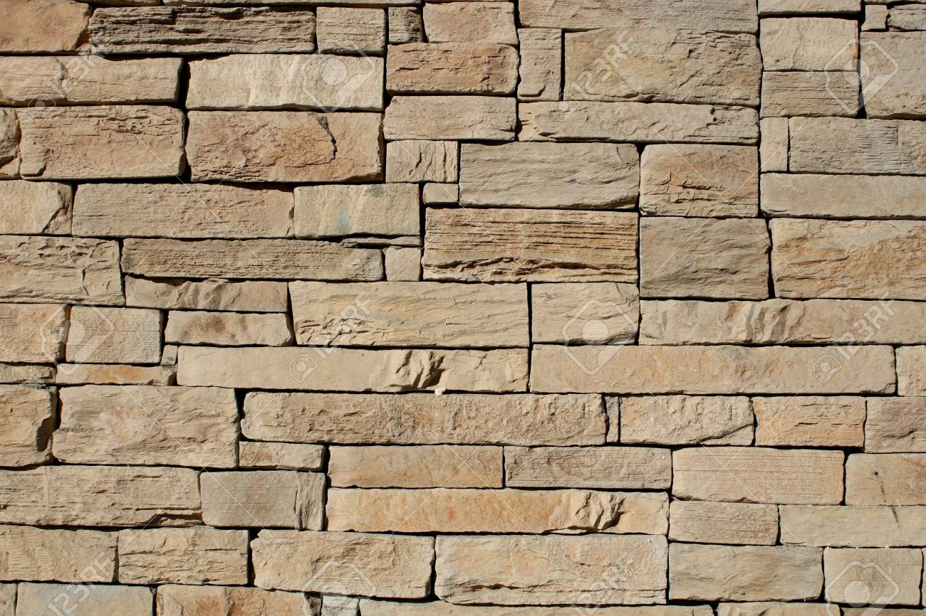 Exterior Stone Cladding/ Background Of Stone. Stock Photo, Picture ...