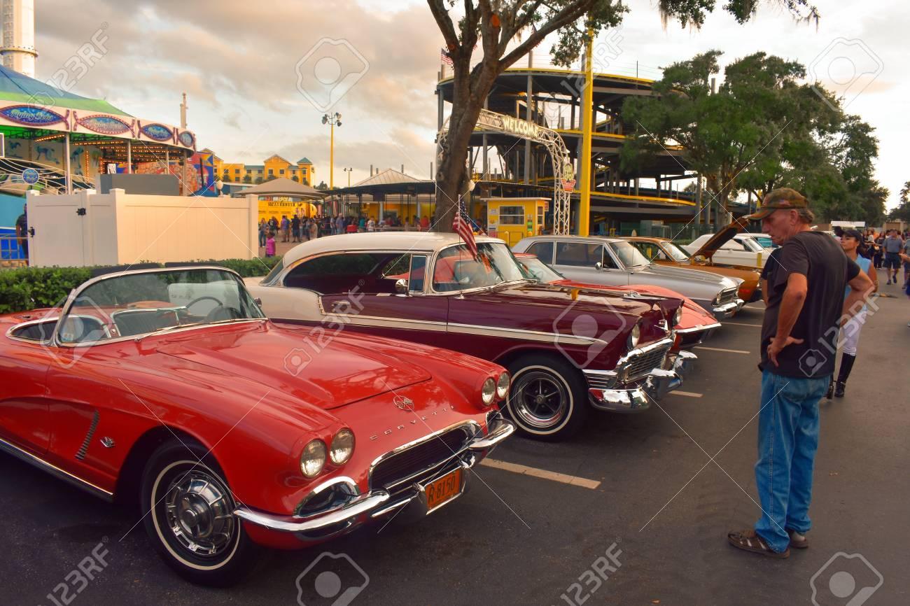 Car Show Orlando >> Orlando Florida November 16 2018 Vintange Cars Exhibition