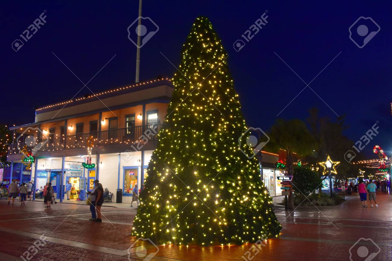 Christmas Town Florida.Orlando Florida November 21 2018 Illuminated Christmas Tree