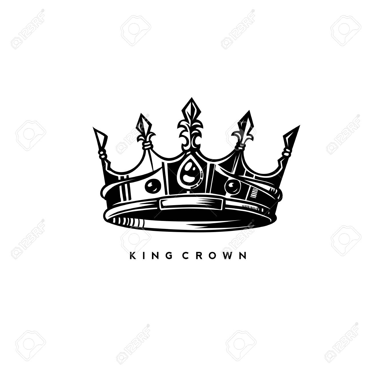 Simple King Crown On White Background With Typography Vector Royalty Free Cliparts Vectors And Stock Illustration Image 94833655 Are you searching for cartoon crown png images or vector? simple king crown on white background with typography vector