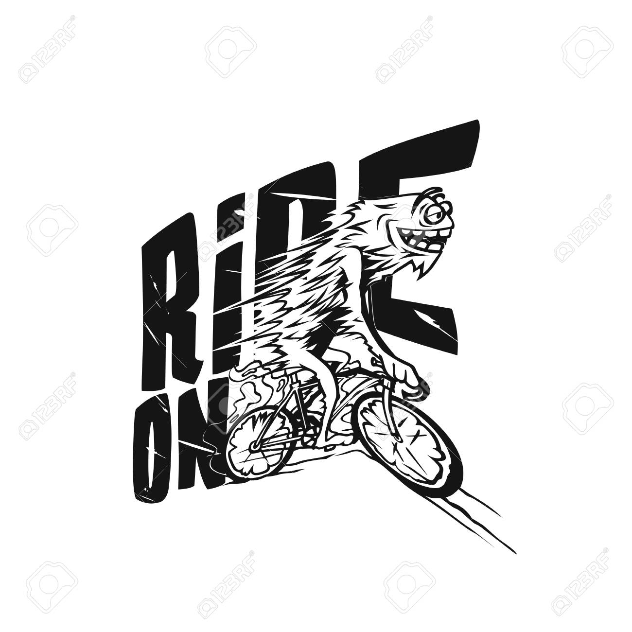 Faster cycling vector illustration design. - 95990854