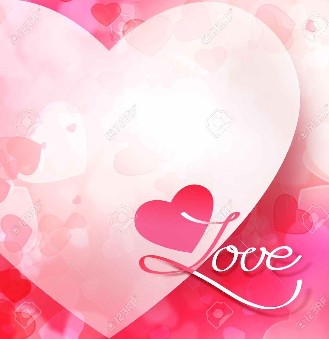 Resumen De San Valentín Con El Corazón De Color Rosa De Fondo ...