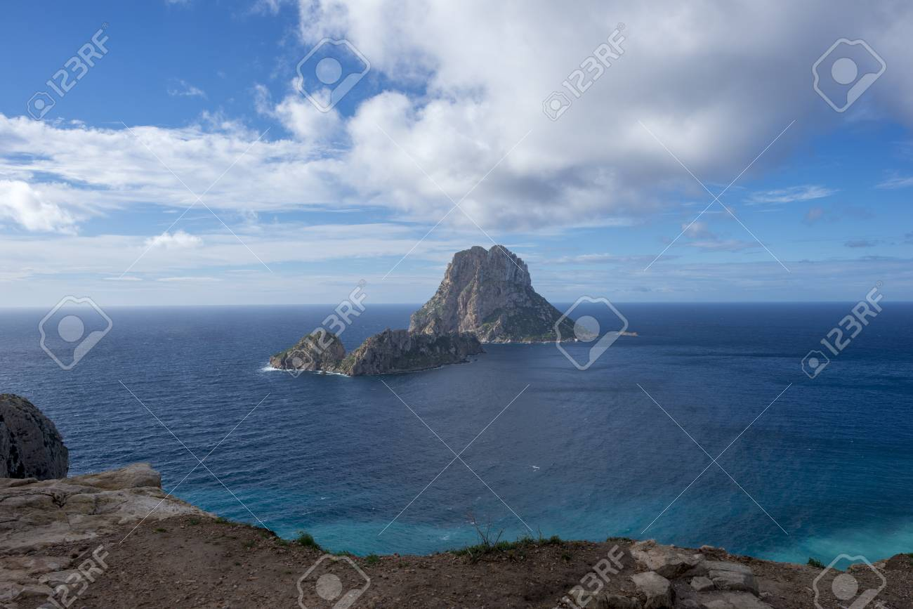 Views from the viewpoint of Es Vedra in Ibiza, Spain
