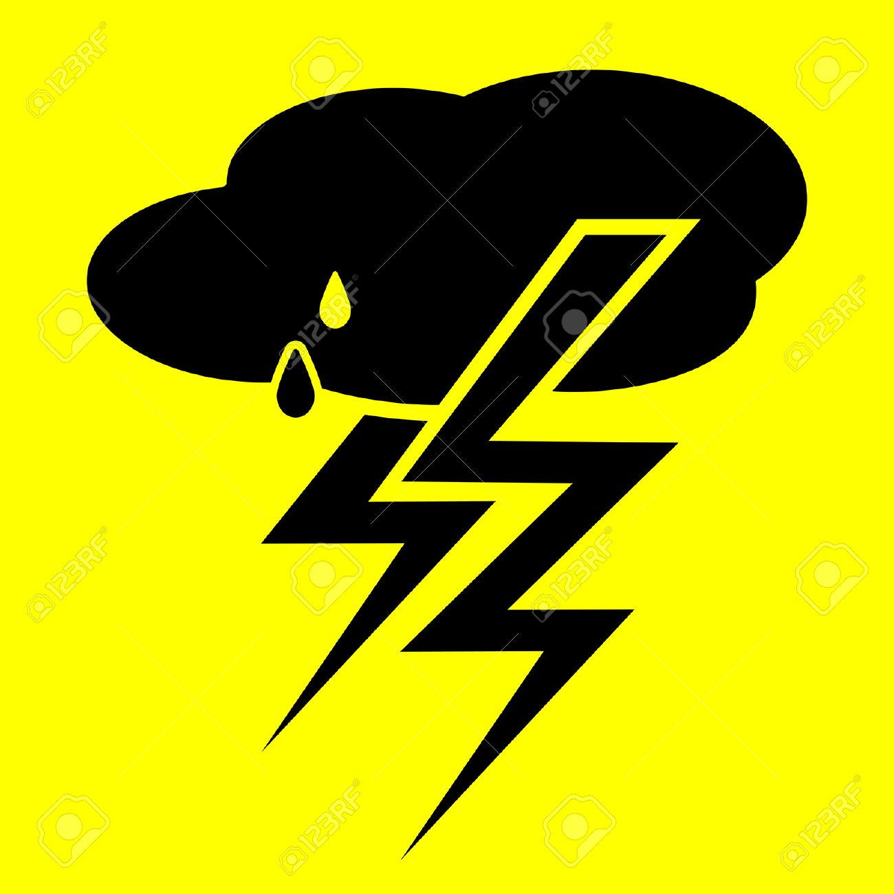 Storm symbol on a yellow background royalty free cliparts vectors storm symbol on a yellow background stock vector 24525936 buycottarizona Image collections