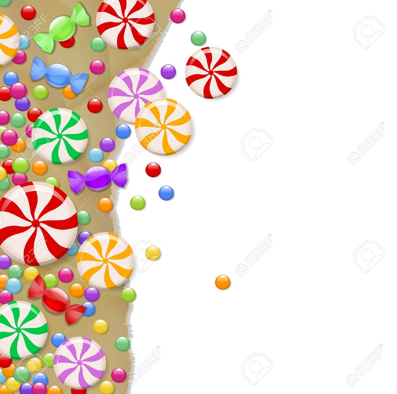Background Candy On Wrapping Paper Royalty Free Cliparts, Vectors ...