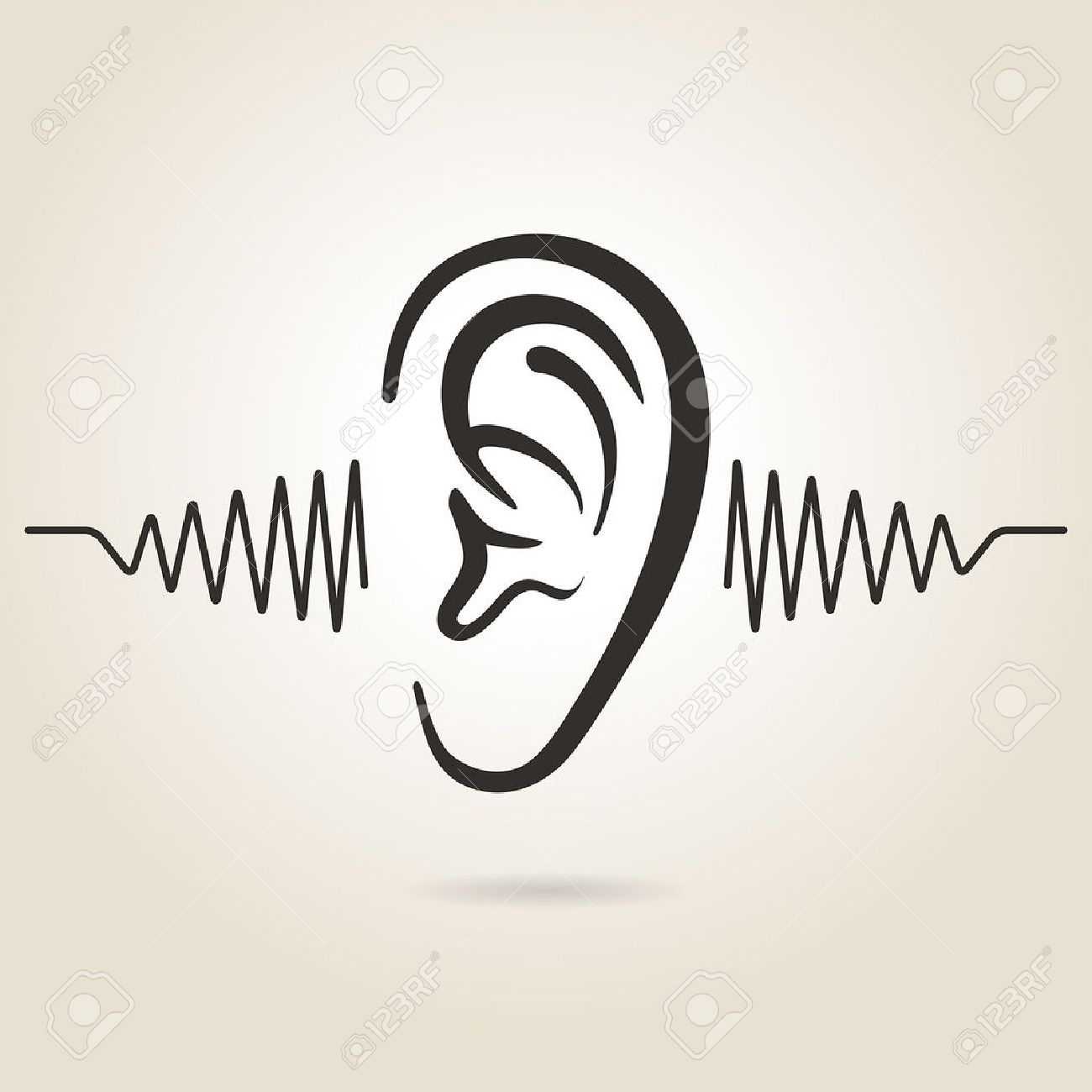ear icon on light background - 31619170