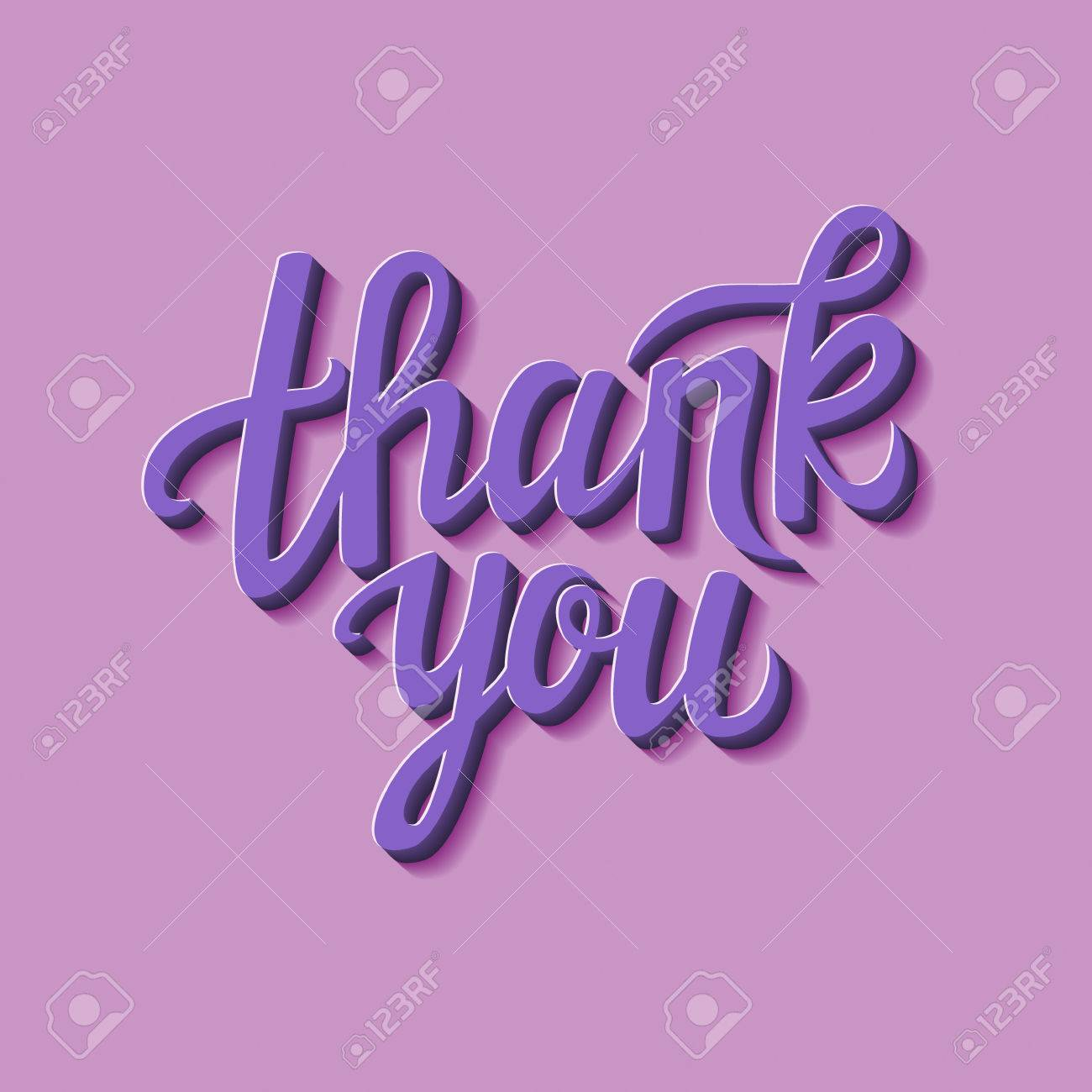 hand lettering calligraphic typography poster thank you card for