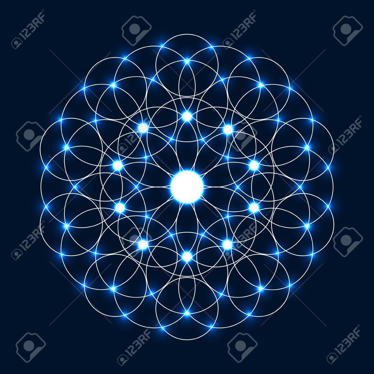 Círculo Abstracto Geométrico Mandala Luz Geometrysparkle Sagrada