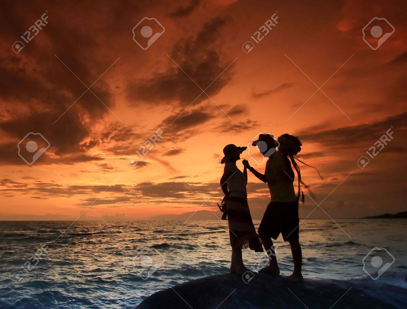 Romantic Scene on the Beach, Thailand Stock Photo - 7407789