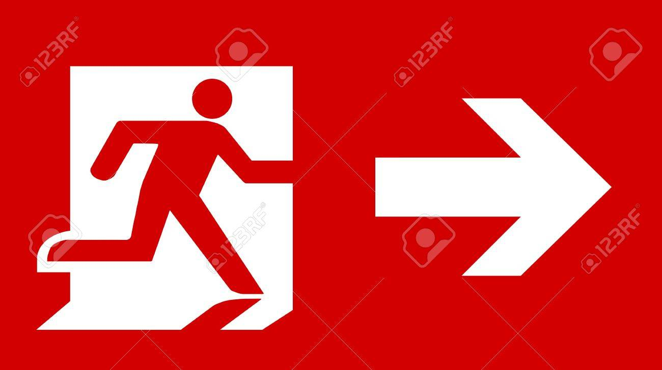 Symbol of fire exit sign with arrow isolated on red head right stock symbol of fire exit sign with arrow isolated on red head right stock photo 7669673 buycottarizona Images