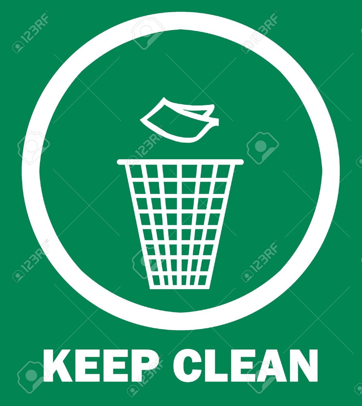Sign of Keep Clean and Litter bin, symbol Stock Photo - 9063379