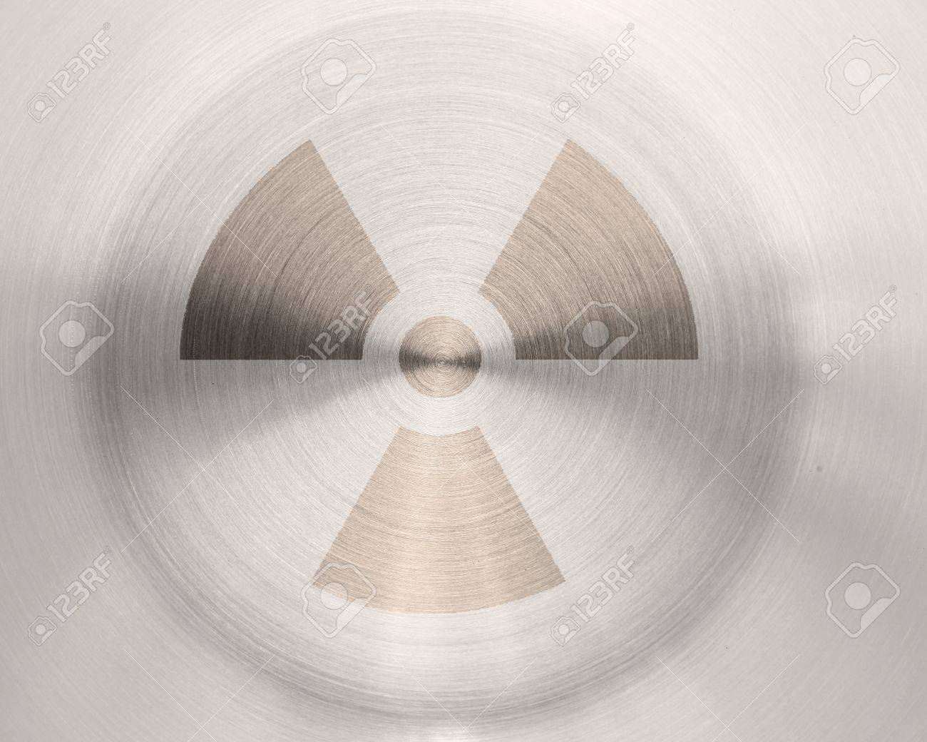 grunge nuclear sign on metal texture background Stock Photo - 9451512