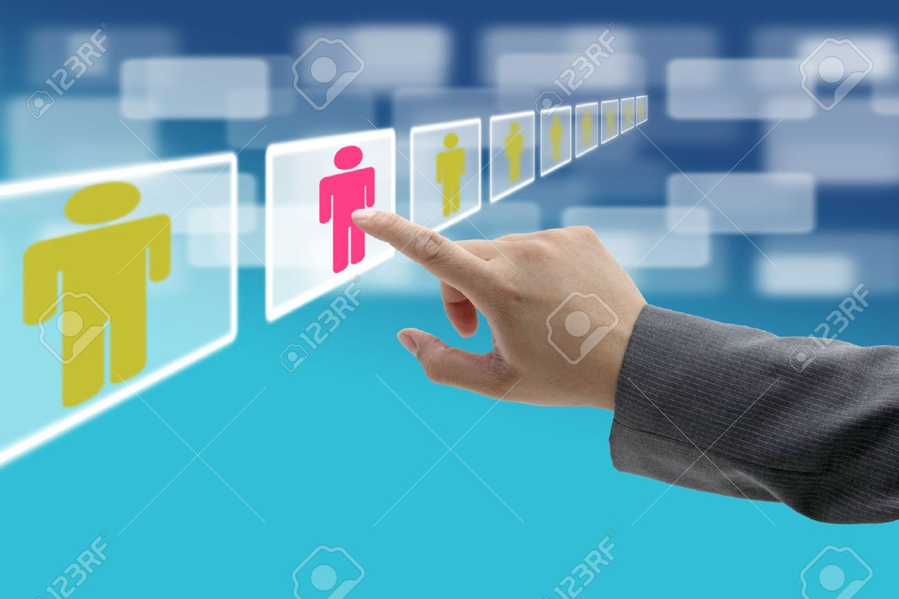 electronic business recruitment process for workforce human resource concept Stock Photo - 10714527