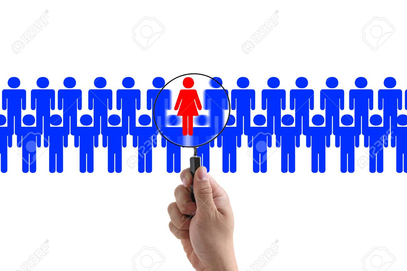 woman employee in workplace for business recruitment Stock Photo - 10743938