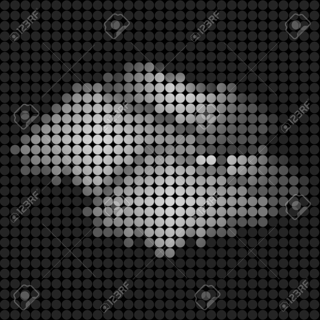 weather cloud icon on technology LED Screen Stock Photo - 10743939