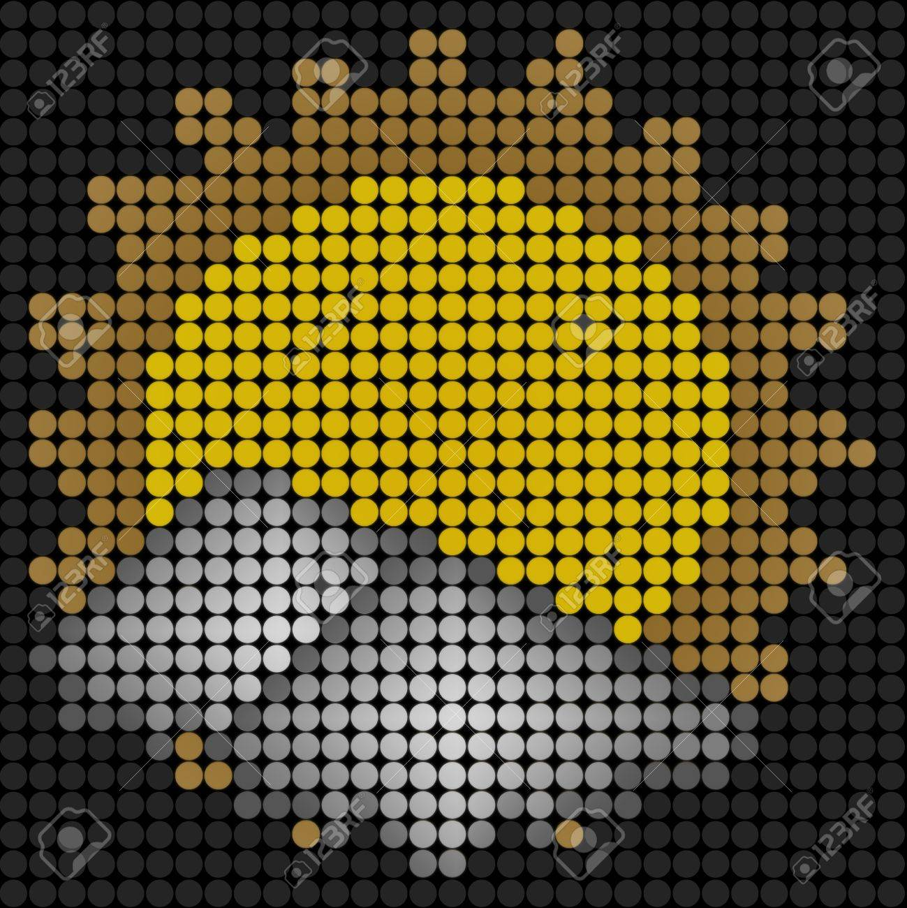 weather sun with cloud icon on technology LED Screen Stock Photo - 10743941