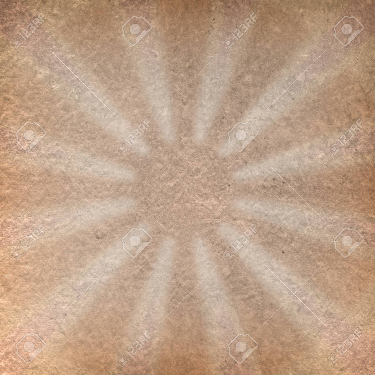 vintage grunge craft paper with sun shape inside Stock Photo - 13554168