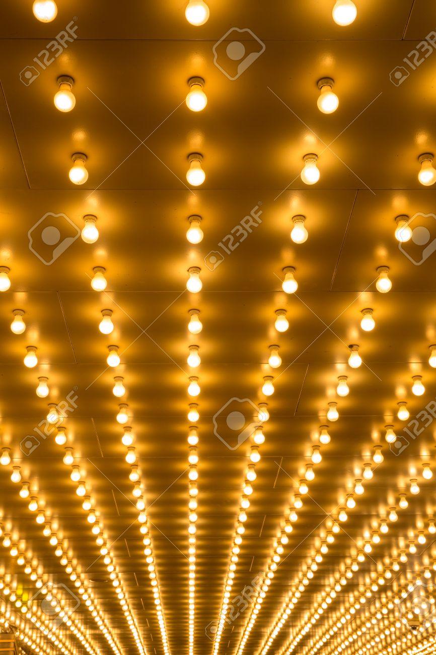 Broadway Lights Marquee golden bulbs marquee lights