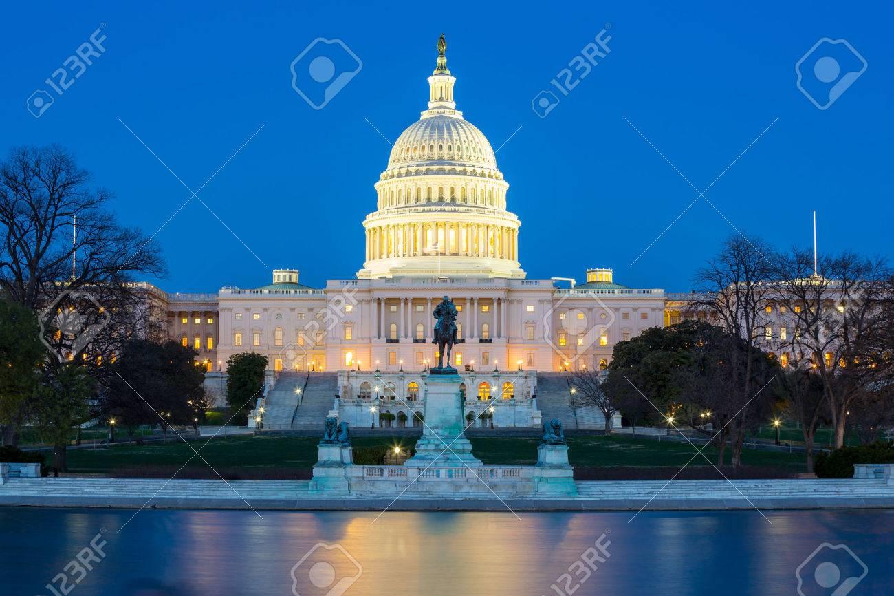 US Capitol Building at dusk, Washington DC, USA - 29946057