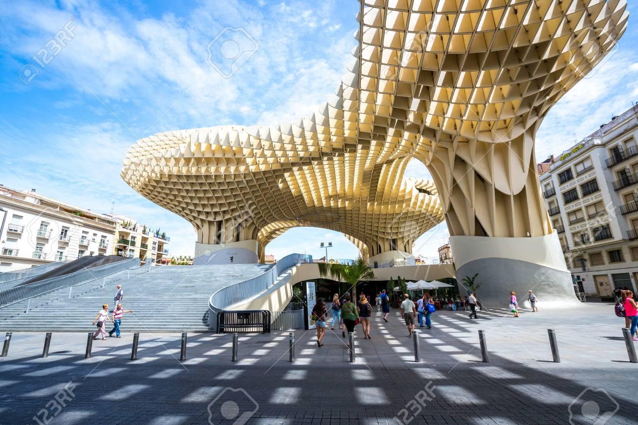Modern Architecture Spain seville, spain, jun 2014: metropol parasol is the modern