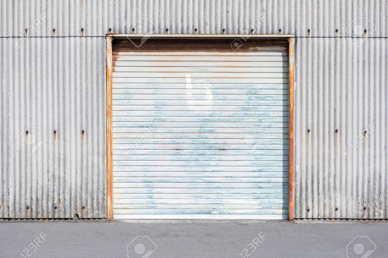 Self Storage Unit Shutter door or roller door of factory building use for industrial background. & Self Storage Unit Shutter Door Or Roller Door Of Factory Building ...