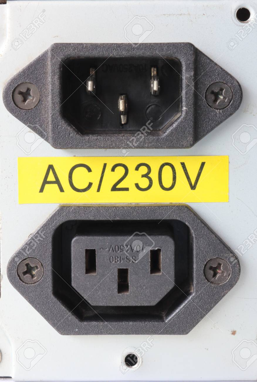 220 Volt Outlet >> 220 Volt Power Inlet And Outlet For Power Supply Stock Photo