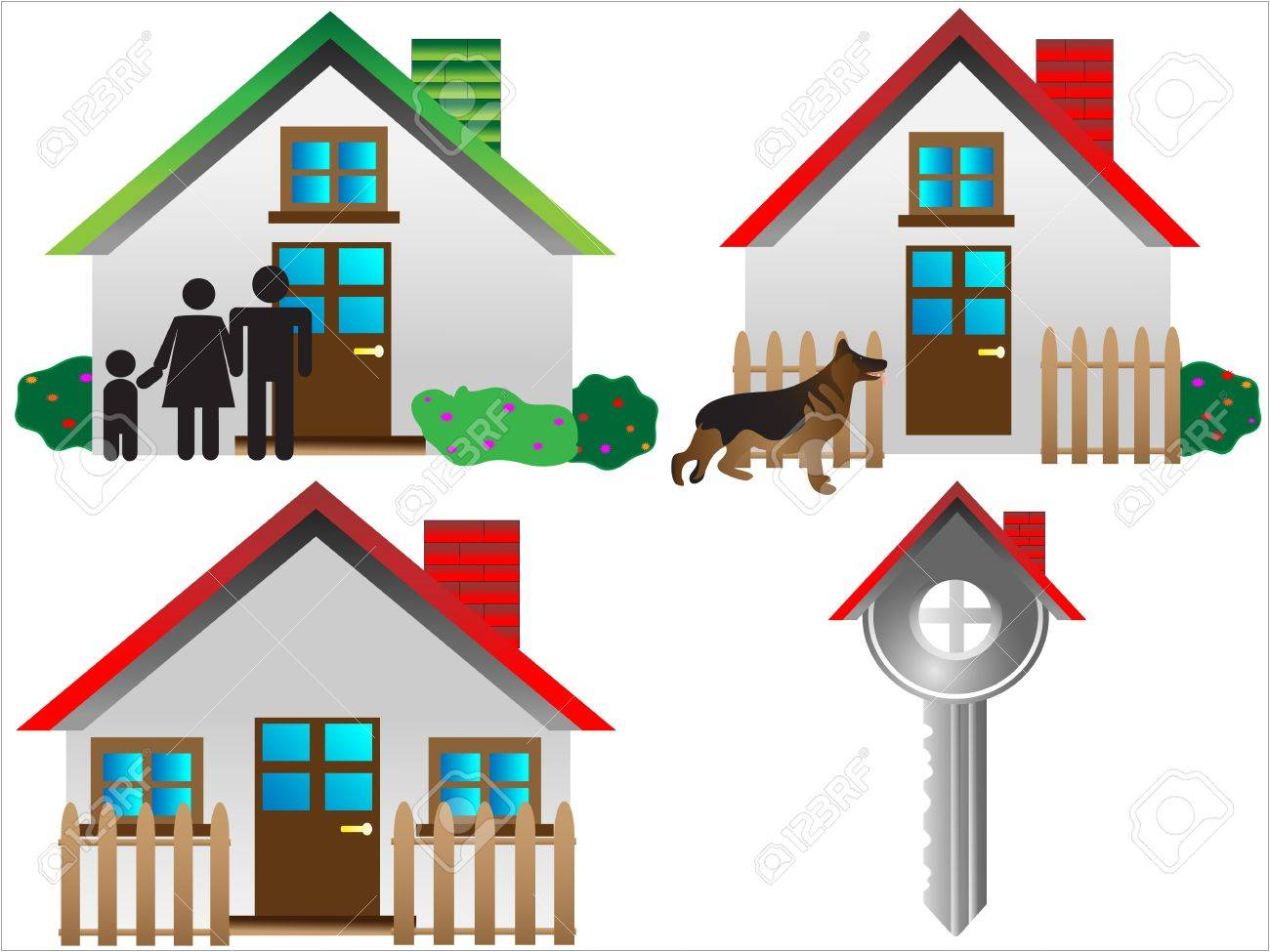 Vector real estate icons,House vector Icons for Web. Construction or Real Estate concept. Abstract color element set of corporate templates,easy to edit, Stock Vector - 9323176