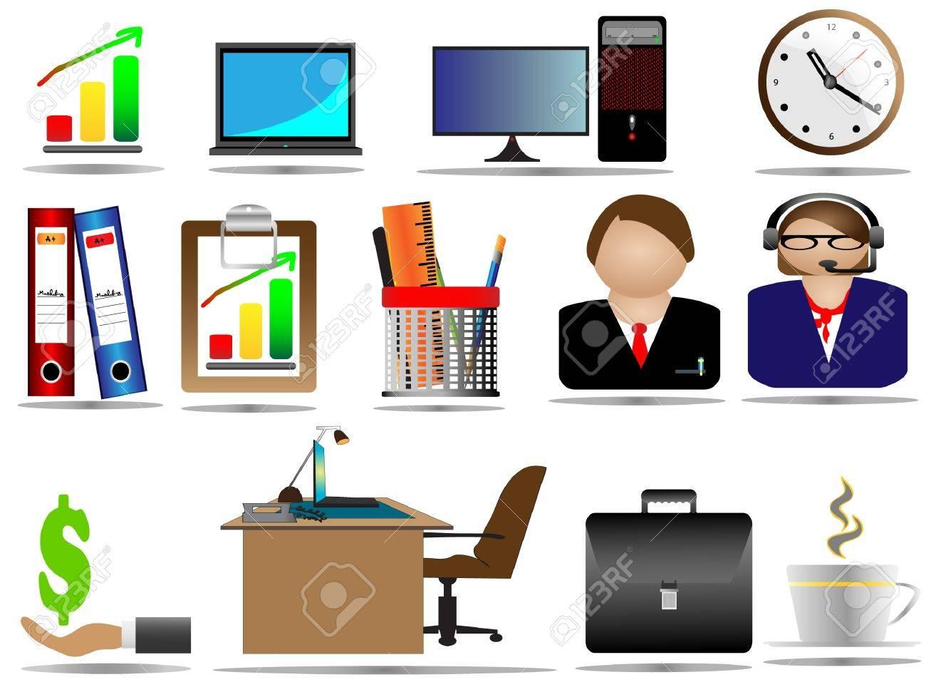 Office Icon Set Stock Vector - 11143662