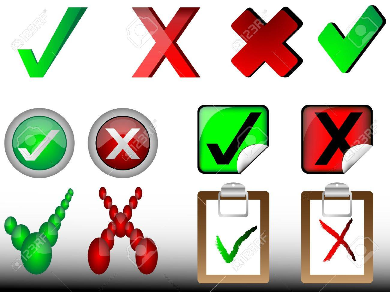 tick and cross signs,right and wrong signs Stock Vector - 11143664