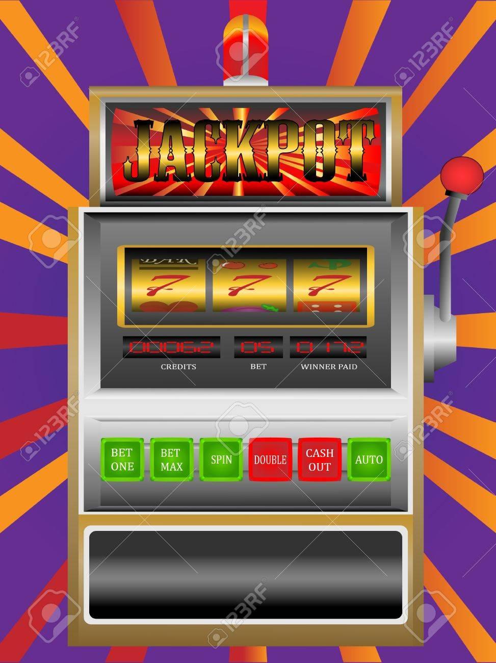 casino slot machine Stock Vector - 12425984