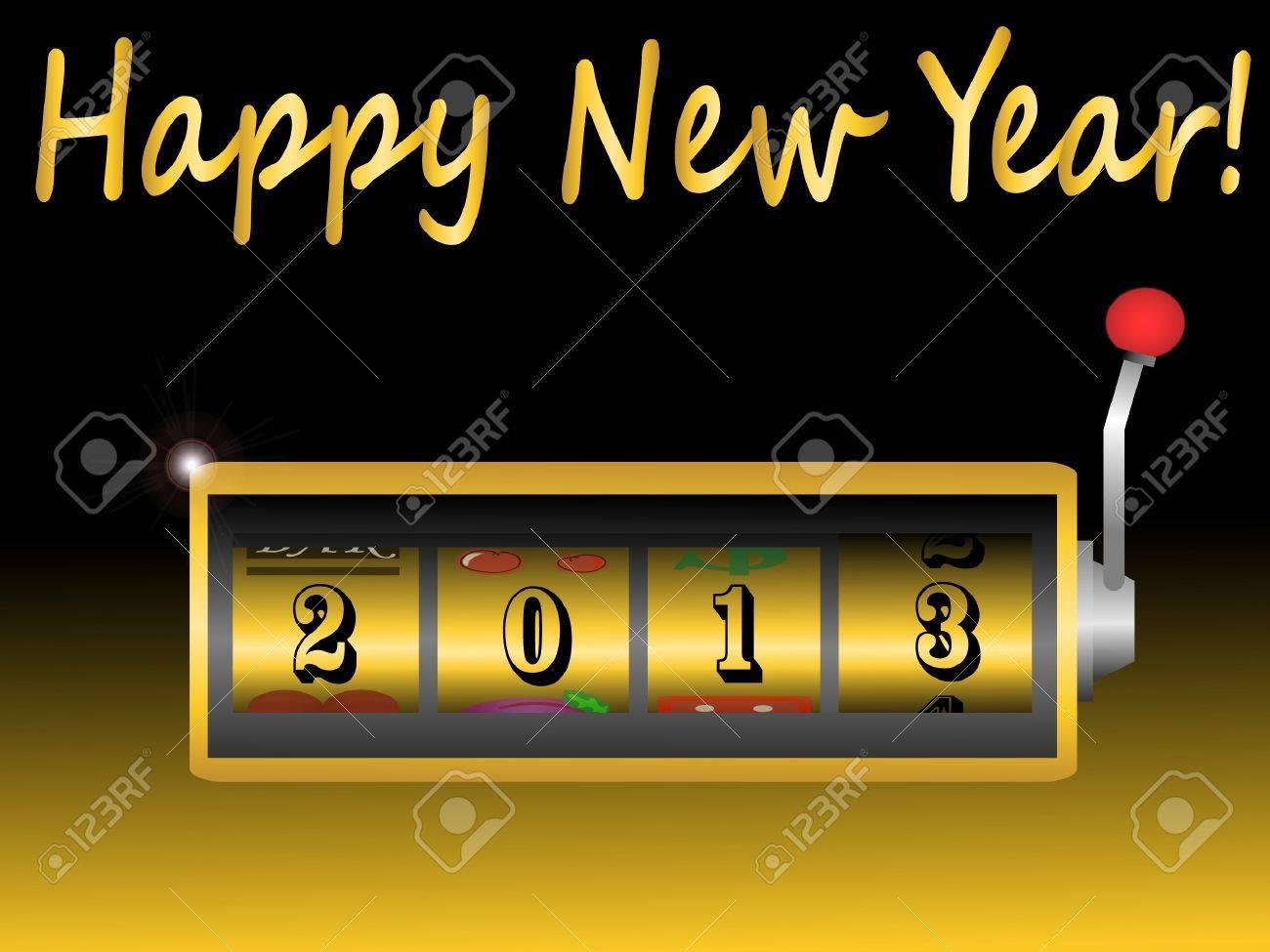 new year 2013 in slot machine vector illustration Stock Vector - 16270989