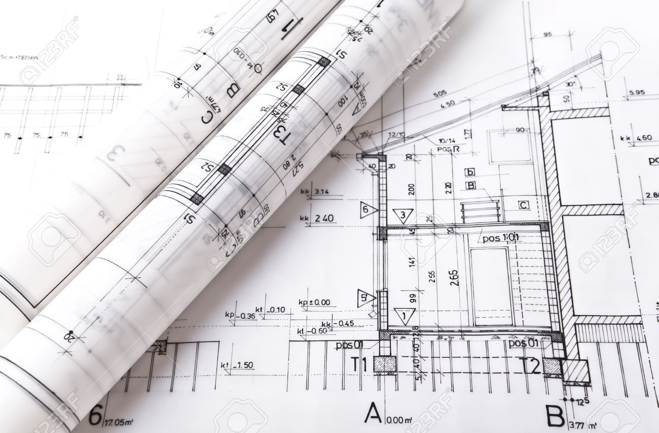 Architect rolls and plans project blueprint stock photo picture and architect rolls and plans project blueprint stock photo 20723626 malvernweather Image collections