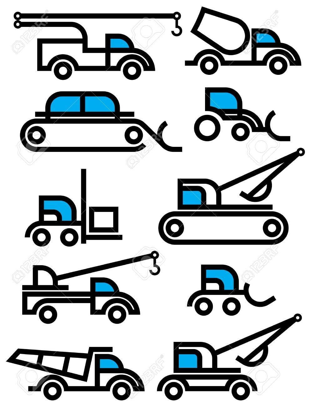 consrtuction equipment signs Stock Vector - 7493846