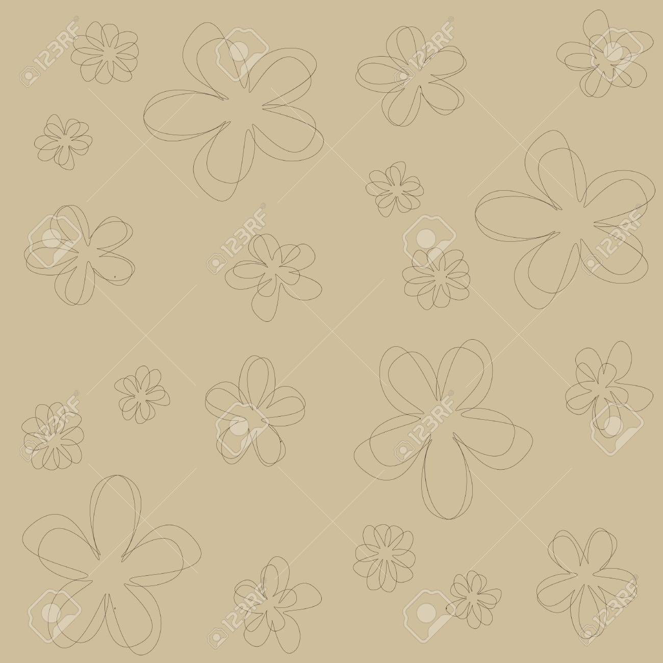 seamless abstract floral texture in broun shades Stock Vector - 14759726
